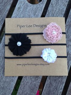 Baby headband headband set headband Photo prop by PiperLeeDesigns