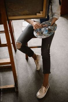 10 Fashion Trends for Summer 2020 - NurNur - 10 Fashion Trends for Summer 2020 Studio space Painting paint paintwork art style fashion denim jeans artwork artists artist tattooed tattoos tatts tattoo passion fashion style -