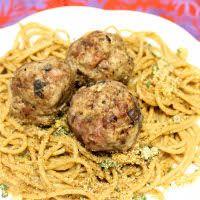 Polpette and Spaghetti Aglio Olio