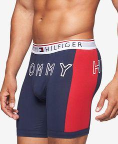 Tommy Hilfiger Men's Modern Essentials Logo Boxer Brief - Blue XL Men's Undies, Briefs Underwear, Tommy Hilfiger Boxers, Ramses, Men's Swimsuits, Men's Boxer Briefs, Modern Essentials, Pretty Men, Jeans