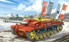 Armored Fighting Vehicle, Alternate History, World Of Tanks, Tank Girl, Panzer, Military Art, Box Art, World War Ii, Military Vehicles