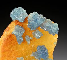 Scorodite with Quartz; Clara Mine, Black Forest, Germany