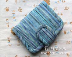 Plátno dvojí peněženka výroba tutoriál - SewLover šití umění školní taška návod | taška vzor