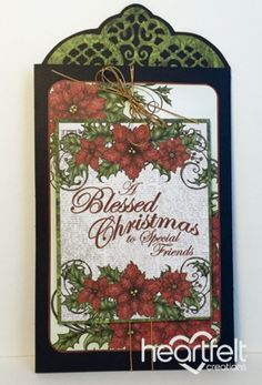 Heartfelt Creations | Blessed Christmas Tri-Fold Card