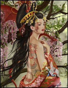 Japanese art...love the modern take