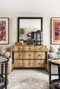 Say yes to a beautiful chest... Eclectic White Living Room with Chest