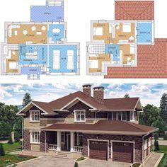 Проект двухэтажного дома площадью 265кв.м