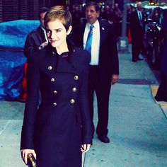 Love emma watsons style! And this coat is amazing