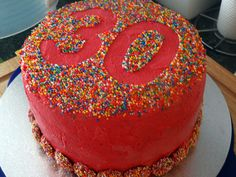 30th Birthday Chocolate Raspberry Freckle Cake
