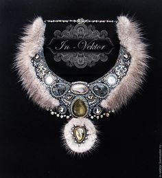Купить Царевна зима - серый, украшение, украшения ручной работы, украшение на шею, украшение для девушки