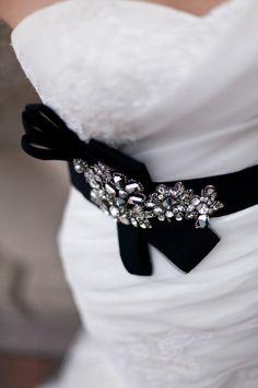 Beautiful black belt by Enzoani via Ritche Bridal