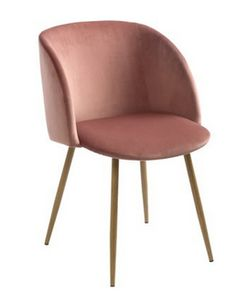 Søstrene Grene velour stol, lyserød