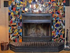 Most recent Snap Shots mosaic Fireplace Surround Suggestions Concrete fireplaces can turn a regular room into something extraordinary. But careful planning and d Mosaic Artwork, Mosaic Wall, Mosaic Tiles, Mosaic Fireplace, Concrete Fireplace, Fireplace Update, Home Fireplace, Fireplace Ideas, Fireplace Remodel