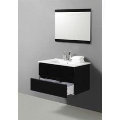 OSLO ensemble simple vasque noir 80 cm - Achat / Vente ENSEMBLE MEUBLE SDB OSLO ensemble simple vasque - Cdiscount