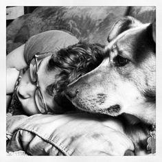 Sam & Copper. Instagram photo. April 2012