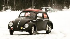 VW 1962. Fully spiked tyres.