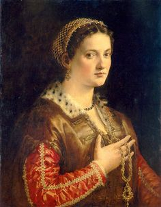 Unknown Lady by Francesco Salviati (Italian,  1510-1563) ~ 1555 ~ National Gallery of Art ~ Francesco Salviati, original name Francesco de' Rossi, also called Cecchino, painter and designer ~ one of the leading Mannerist fresco painters of the Florentine-Roman school ~ Salviati studied and worked with Andrea del Sarto ~ Among his most notable frescoes are those executed for the Sala dell' Udienza (1544–48) of the Palazzo Vecchio in Florence and those in the Farnese Palace in Rome (1555)