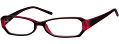 Red Stylish Plastic Full-Rim Frame 338518