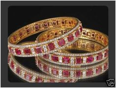 """Melisandra""...only $14,800 or P651,200!! Royal !!! 14.28ctw Diamond& Ruby Bangles Set /48.560G! Imported, world-class quality, not pre-owned, not pawned, not stolen. We deliver worldwide <3"