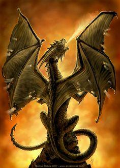 *DRAGON ~ Fire breather by Ironshod.deviantart.com