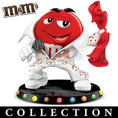 Elvis Presley Tribute M&M'S Characters Figurine Candy Pictures, Candy Images, Chocolates, Peanut M&ms, M&m Characters, M Wallpaper, Red Towels, M M Candy, Favorite Candy