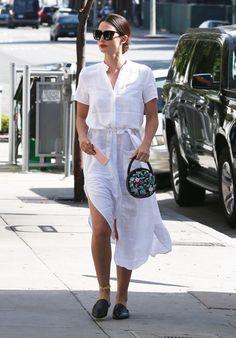 Le total look blanc de Lily Aldridge