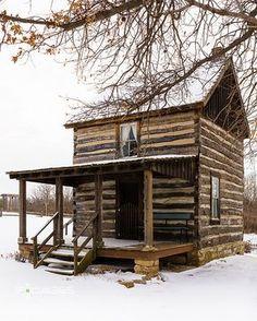 historic log cabin in snow | Flickr - Photo Sharing!