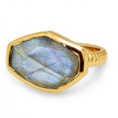 Slice Ring Gold / Labradorite
