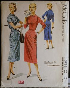 Vintage Sewing Patterns 1950s Womens Two Piece by olivealley, $18.00
