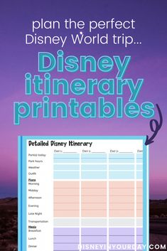 15 tips to create the perfect Disney World itinerary - Disney in your Day
