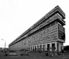 Residential building - Bolshaya Tulskaya, (Titanic) Moscow, Russia, design/built: 1970-1986 Arkhitektor: V. Voskresenskiy, V.Babad, L. Smirnova. | Socialist Modernism fcbk