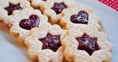 A legfinomabb karácsonyi sütemények egyike. A jó linzer titka a megfelelő arányokban - 1 rész porcukor, 2 rész v... Hungarian Recipes, Strudel, Cookie Jars, Cookie Recipes, Waffles, Food And Drink, Favorite Recipes, Sweets, Cookies