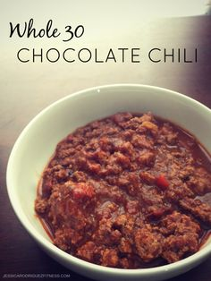 Jessica Rodriguez - Fitness and Nutrition | Chocolate Chili (Whole 30 Approved!) | http://jessicarodriguezfitness.stfi.re