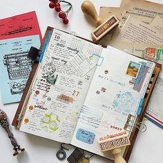 Week 43  #midori #travelersnotebook #travelersfactory #designphil #journal #journallover #keepanotebook #stationeryaddict #loveforstationery #loveforpaper #vintageephemera #vintagestamps #waxseal