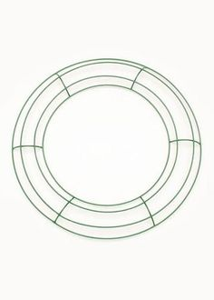 Green Wire Wreath Form - 12in. Diameter