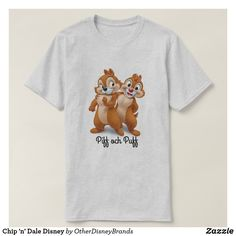 Chip 'n' Dale Disney T-Shirt with text Piff och Puff that is Chip 'n' Dale in Swedish. Closet Staples, Fitness Models, Disney, Casual, Sleeves, Mens Tops, T Shirt, How To Wear, Shopping