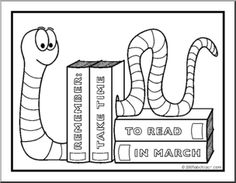 1000 images about march is reading month on pinterest for Month of march coloring pages