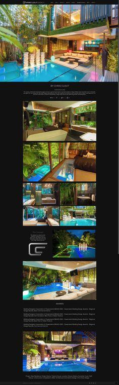Chris Clout Design House luxury modern resort living lighting bathroom interiors pool tropical