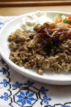 Bint Rhoda's Kitchen: Lentil Rice Pilaf, or Mujjadara
