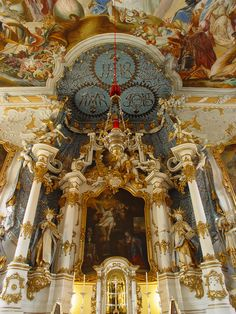 Image about beautiful in Places 'n' Things by Sofia Cathedral Architecture, Ancient Architecture, Interior Architecture, Classical Architecture, Church Interior, Interior And Exterior, Baroque, Stay In A Castle, Christian World