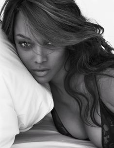Pillow Tweets - Tyra Banks photographed by Mert Alas and Marcus Piggott; W Magazine March 2014.