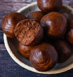 Chocolate Peanut Butter Protein Balls. So simple and so delicious! Enjoy.