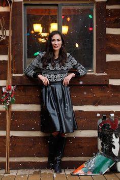 Coal Skirt by Shabby Apple