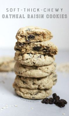 This Oatmeal Raisin Cookie recipe is to die for.  It makes the softest chewiest cookies I have ever had!