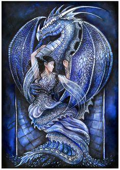 Dragon's bride (blue) by jankolas on DeviantArt