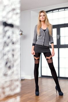 GIULIA 40 #tights #patterned #fashion #legs #legwear #stockingsimitation #black #sexy