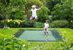 Trampolin springen-hüpfen Kinder Spielplatzgeräte Garten