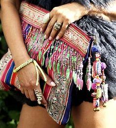 embellished boho bag!