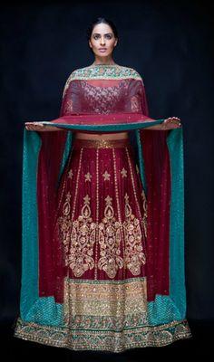 'Rudali' A stunning wedding lengha by Osman Ghani