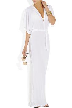 Norma Kamali|Obie jersey maxi dress |NET-A-PORTER.COM